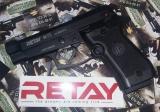 Beretta M 84FS - Retay 84FS кал. 9 мм. Пистолет стартовый - Retay 84FS является полуавтоматическим стартовым пистолетом с УСМ двойного действия. Данная модель представляет собой реплику знаменитого пистолета Beretta M 84FS Cheetah. Пистолет предназначен для отстрела холостых патронов. Сигнально-шумовое оружие