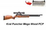Kral РСР Puncher Mega Wood - Kral РСР Puncher Mega Wood пневматическая винтовка с предварительной накачкой (система PCP)Приклад дерево, количество выстрелов от одной заправки зависит от настройки: 200 -120 bar - 60 выстрелов, 180 – 120 bar - 45 выстрелов