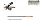 Стрела карбоновая PL/D-067B для арбалета